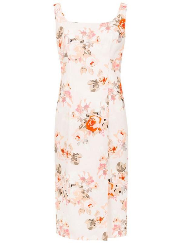 Reinaldo Lourenço slim fit floral dress in pink