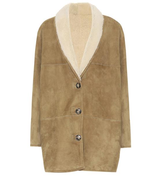 Isabel Marant, Étoile Carman reversible shearling coat in beige