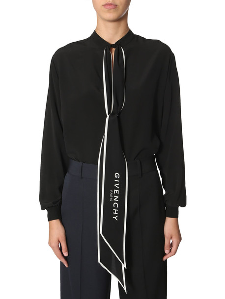 Givenchy Shirt With Scarf Collar in nero