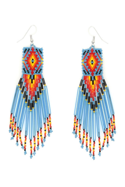 Jessie Western Zuni Chandelier Earrings in black / blue
