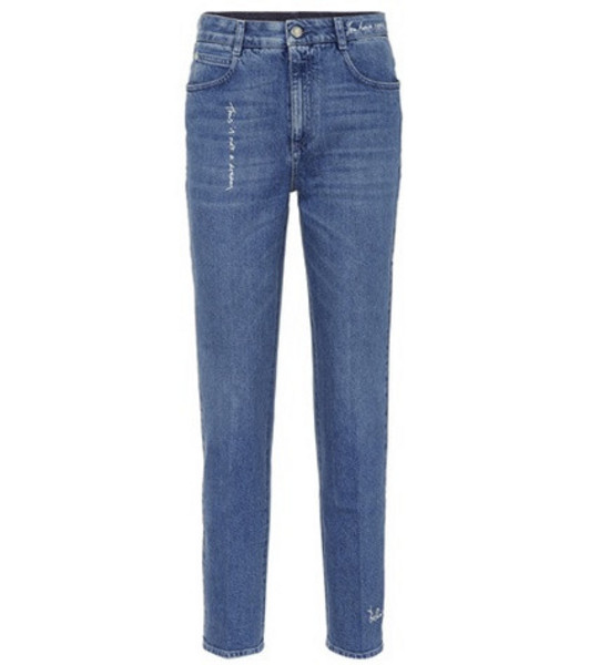 Stella McCartney High-waisted jeans in blue