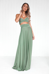 dress,maxi dress,khaki,green,prom,formal