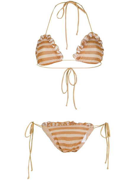 Missoni Mare striped metallic bikini set in neutrals