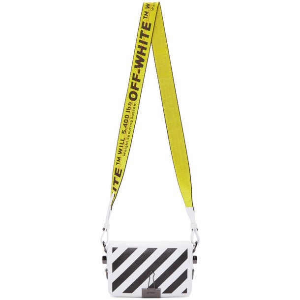 Off-White White Mini Diag Flap Bag