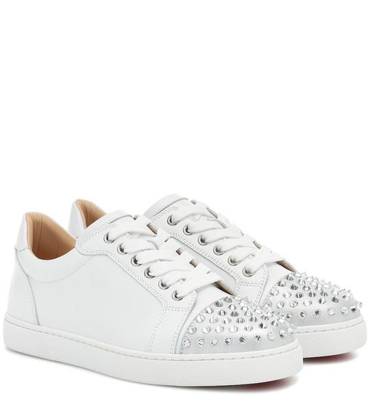 Christian Louboutin Exclusive to Mytheresa – Vieira Spikes Krystal sneakers in white