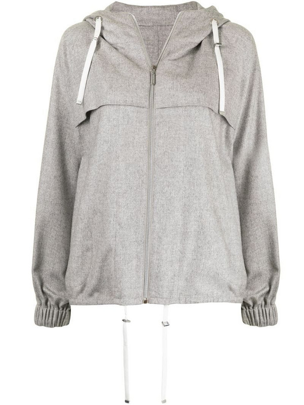 Colombo zip-up hooded jacket in grey