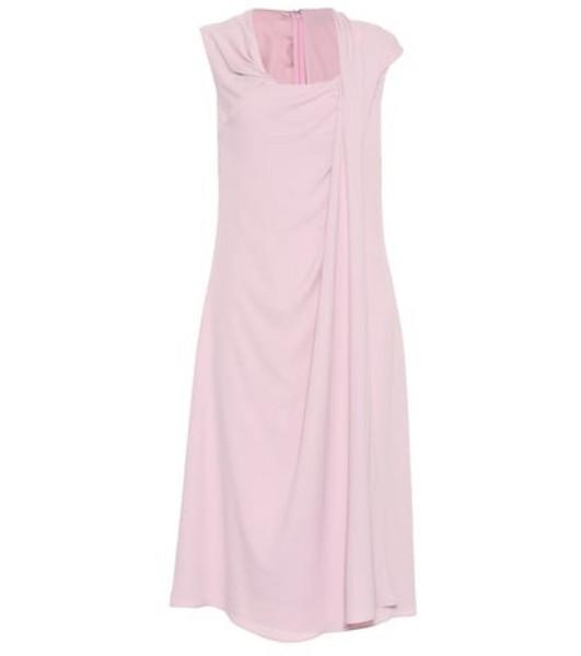 Sies Marjan Sleeveless silk-blend midi dress in pink