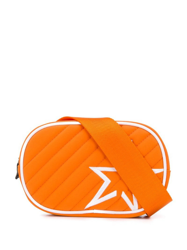 Perfect Moment star patch quilted belt bag in orange