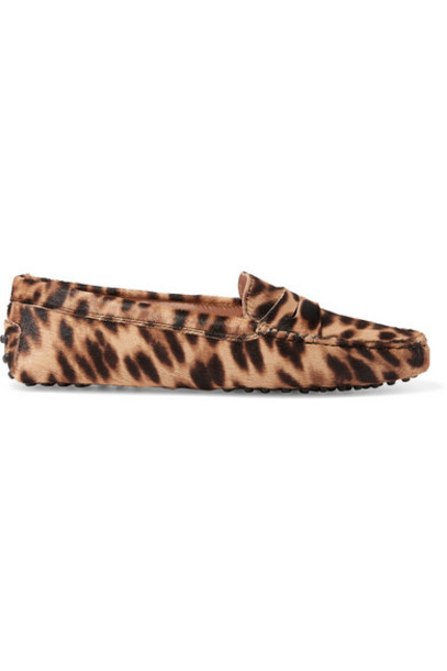 Tod's - Gommino Leopard-print Calf Hair Loafers - Brown