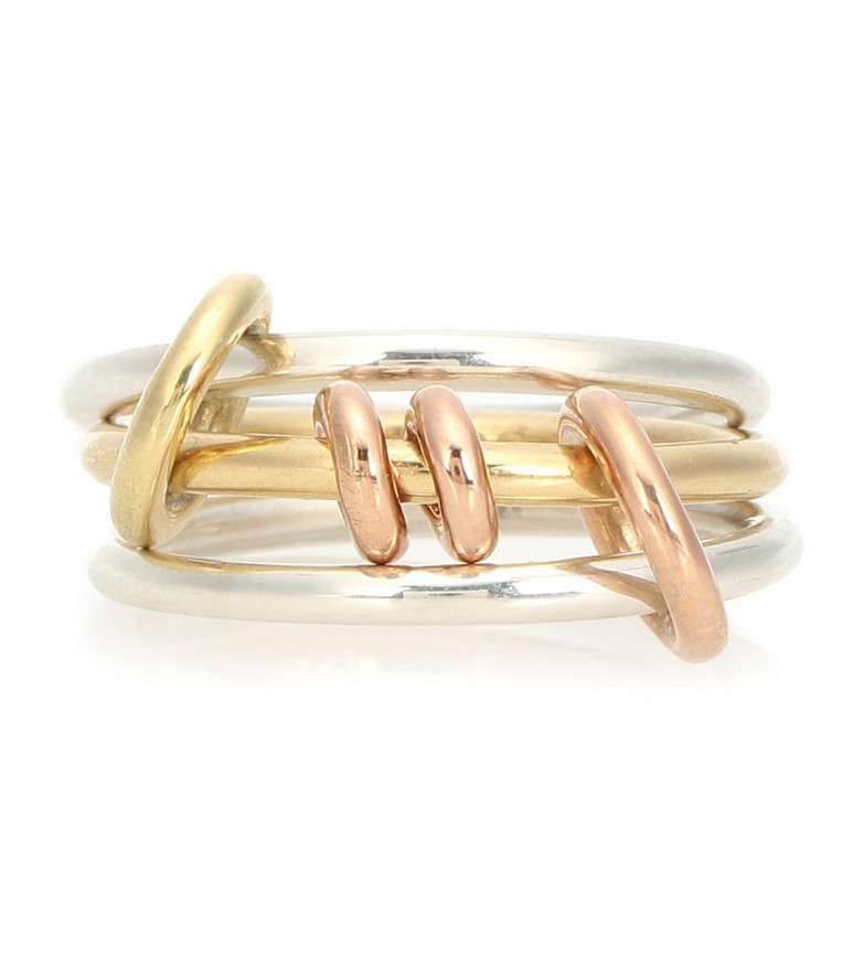 Spinelli Kilcollin Acacia 18kt gold and sterling silver linked rings