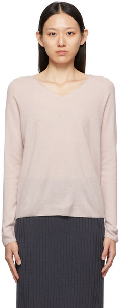 Max Mara Leisure Pink Trudy V-Neck Sweater in lilac