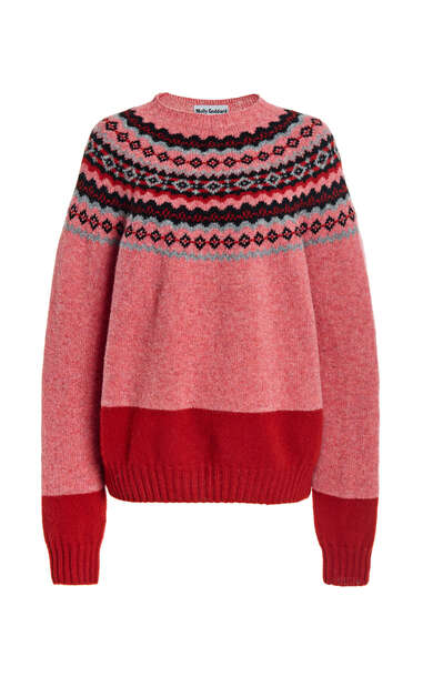 Molly Goddard Benny Fair Isle Wool Sweater in multi