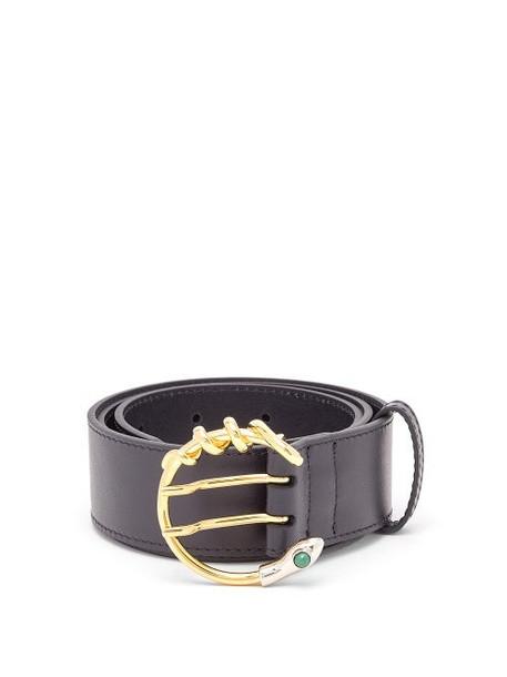 Chloé Chloé - Snake C-buckle Leather Waist Belt - Womens - Navy