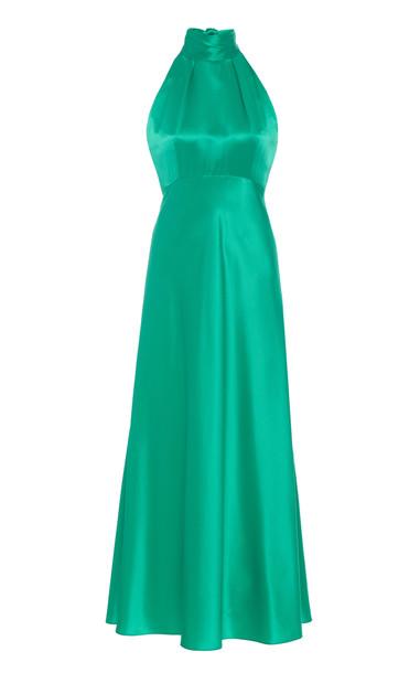 Saloni Michelle Midi-B Dress Size: 0 in blue