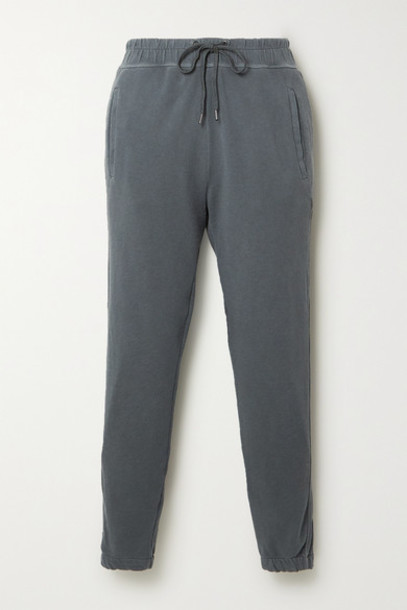 James Perse - Supima Cotton-terry Track Pants - Gray