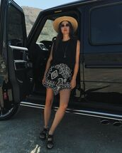 top,skirt,sleeveless top,asymmetrical skirt,shoes,summer outfits
