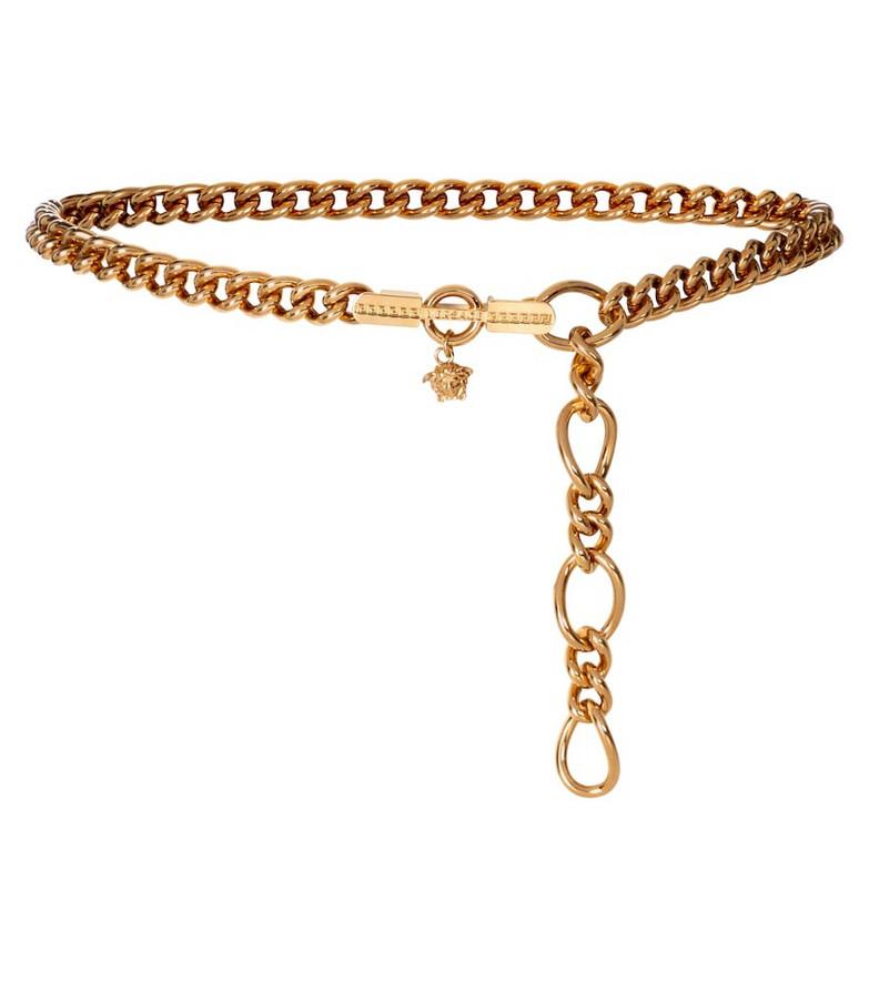 Versace Medusa chain-link belt in gold