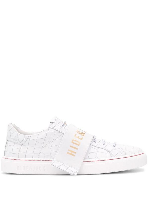 Hide&Jack interchangeable logo strap sneakers in white