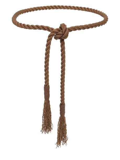 MAX MARA High Waist Cotton Rope Belt in brown