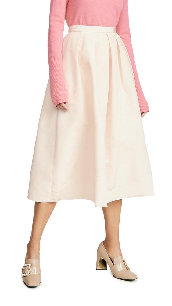 Tibi Full Skirt in ivory