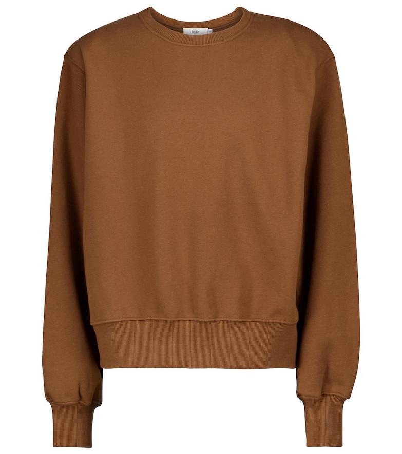 Frankie Shop Exclusive to Mytheresa – Vanessa cotton jersey sweatshirt in brown