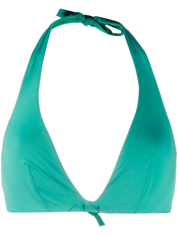 Fisico halterneck bikini top in green
