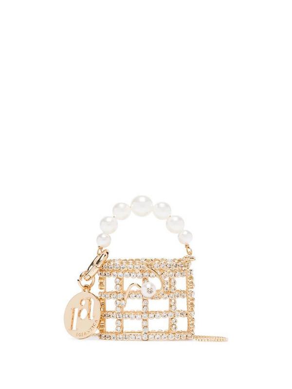 Rosantica baby Holli crystal bracelet bag in metallic