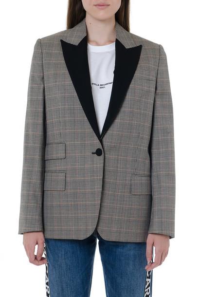 Stella McCartney Gray Wool Checked Jacket