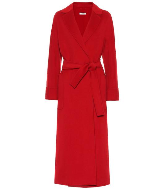S Max Mara Algeri double-face wool coat in red