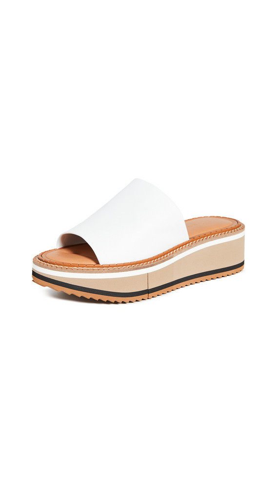 Clergerie Fast 3 Slides in white