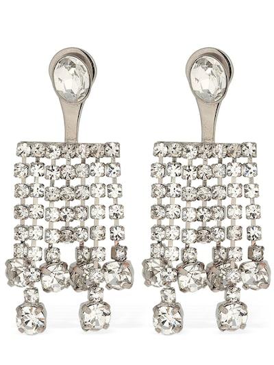 CA&LOU Clara All Over Crystal Earrings Crystal