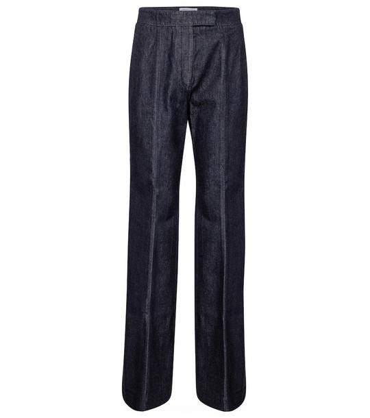 Gabriela Hearst Leda high-rise flared jeans in blue