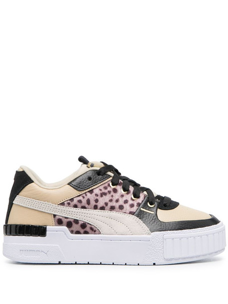 Puma panelled low-top sneakers in neutrals