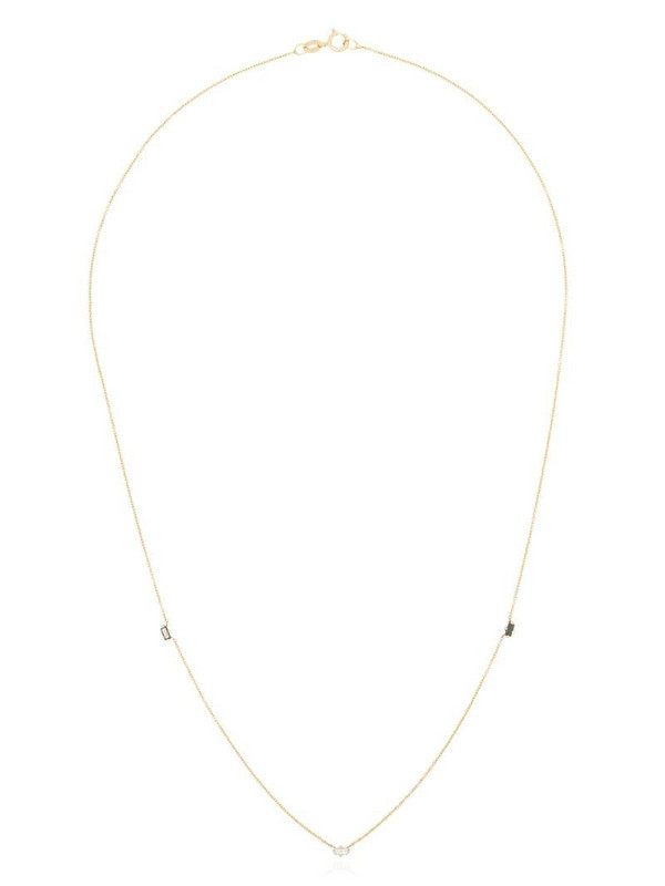 Lizzie Mandler Fine Jewelry 18kt yellow gold emerald diamond necklace