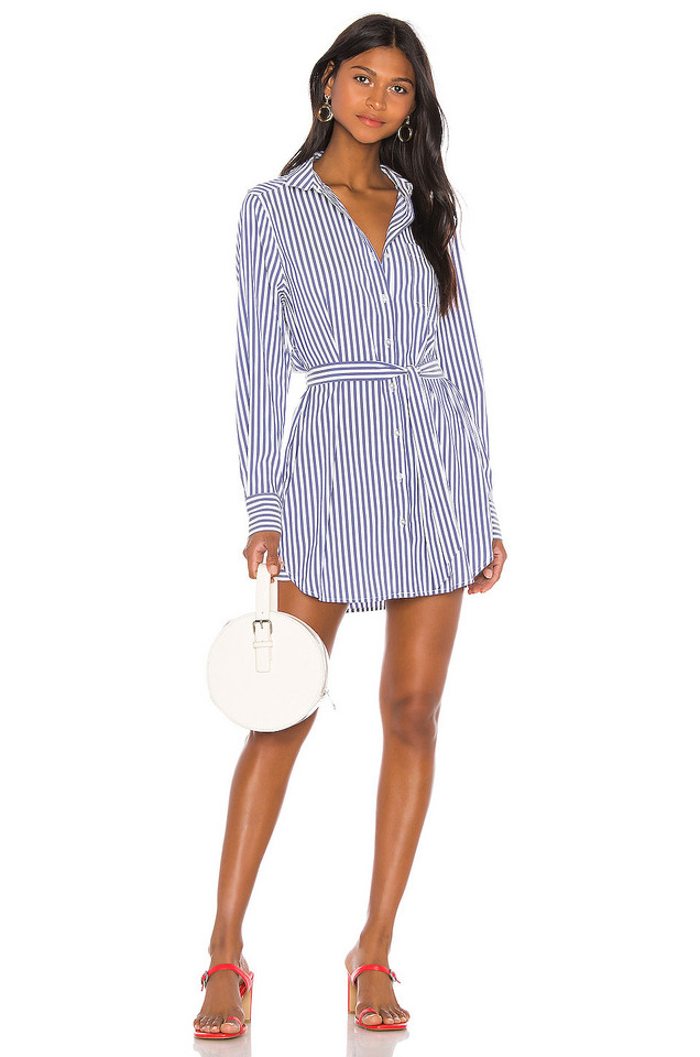 L'Academie The Zoe Mini Dress in blue