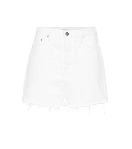 Grlfrnd The Milla denim miniskirt in white