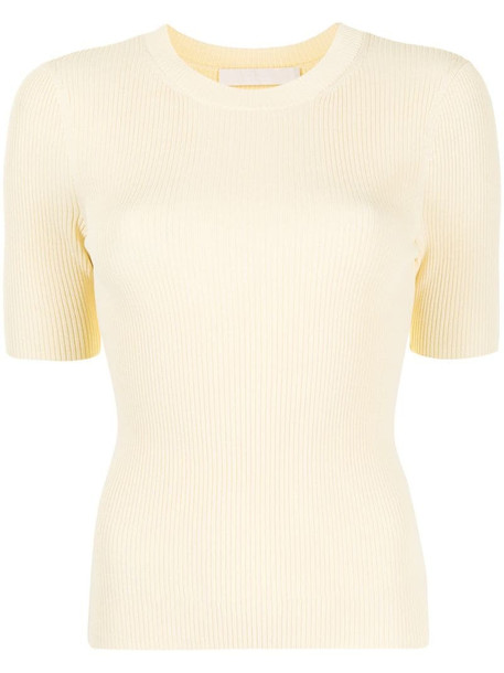 Dion Lee ribbed-knit top in yellow