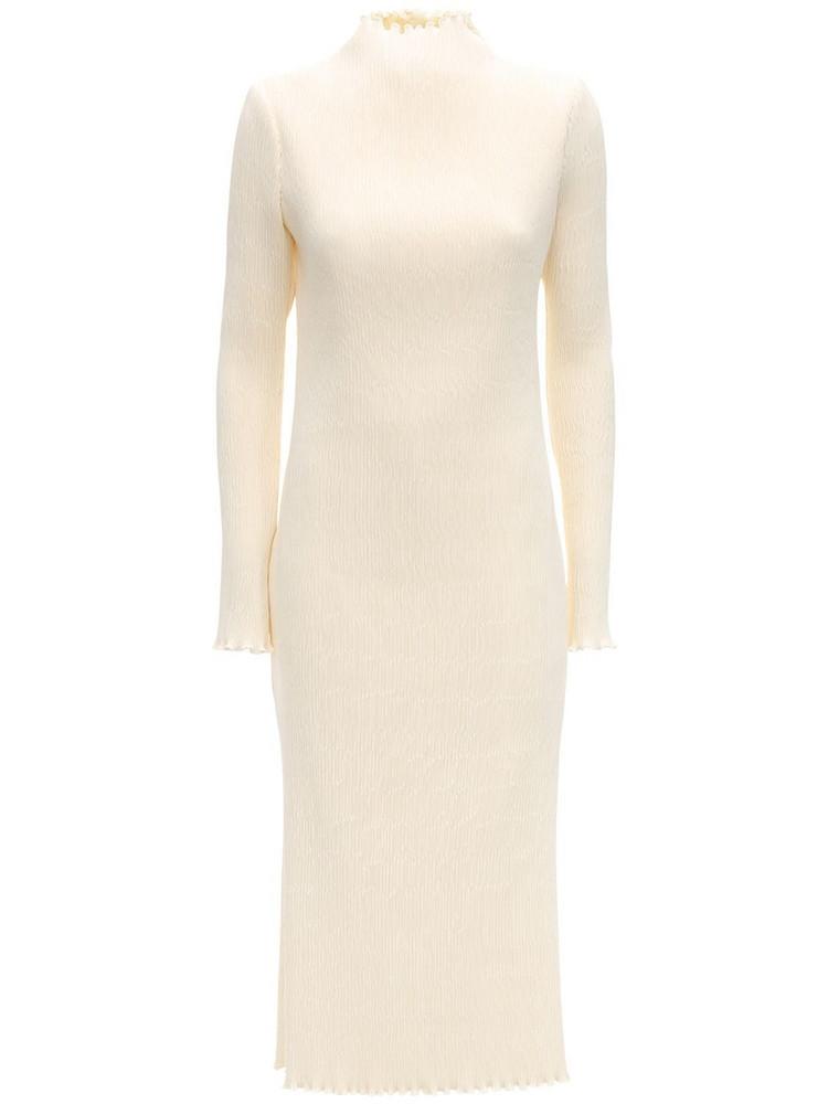 DANIELLE FRANKEL Pleated Midi Dress in ivory