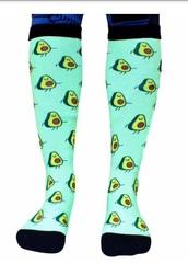 socks,avacado,green,teal,funny,cute,cartoon,novelty