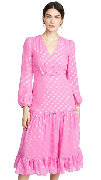 Saloni Devon Dress in pink