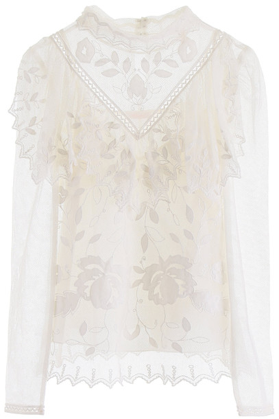 See by Chloé See by Chloé Ruffled Blouse in white