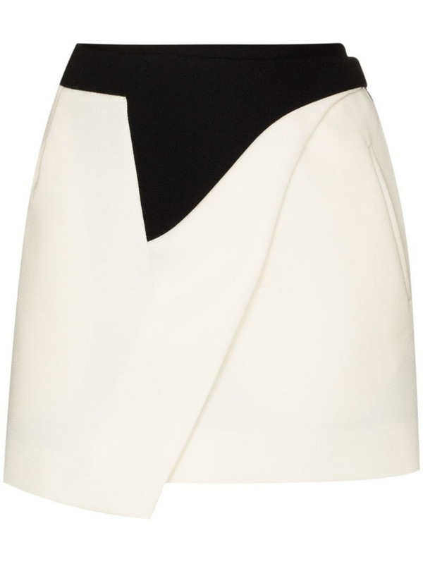 WARDROBE.NYC x Browns 50 wrap mini skirt in black