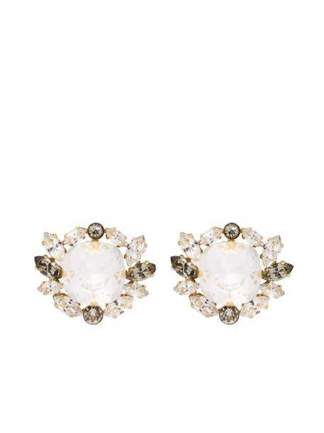 Dolce & Gabbana - Crystal Embellished Clip Earrings - Womens - Gold