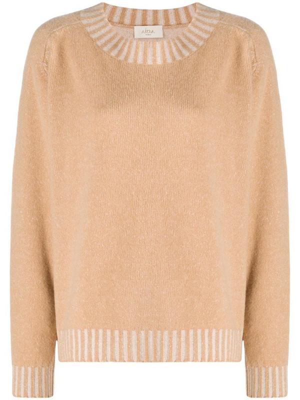 Altea crew-neck knit jumper in neutrals
