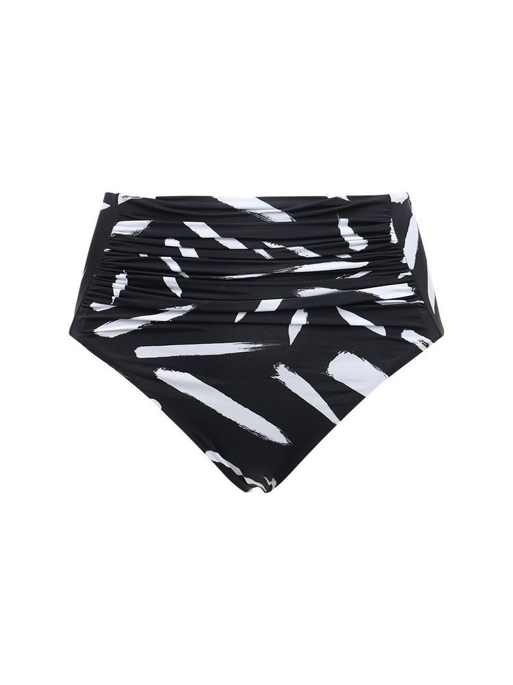 SELF-PORTRAIT Brush Stroke High Waisted Bikini Bottoms
