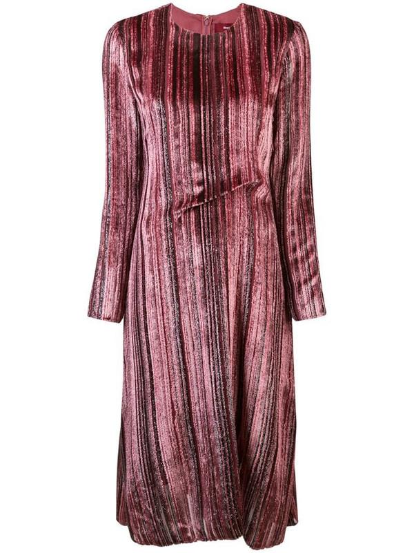 Sies Marjan textured flared dress in pink
