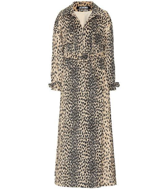 Jacquemus Le Manteau Thika cotton-blend coat in beige