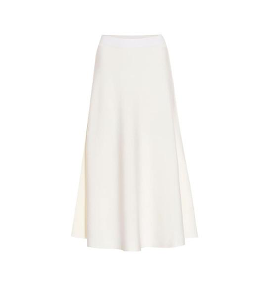 Jardin des Orangers Wool midi skirt in white