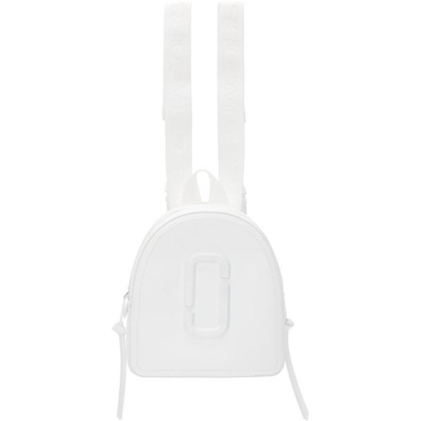 Marc Jacobs White DTM Pack Shot Backpack