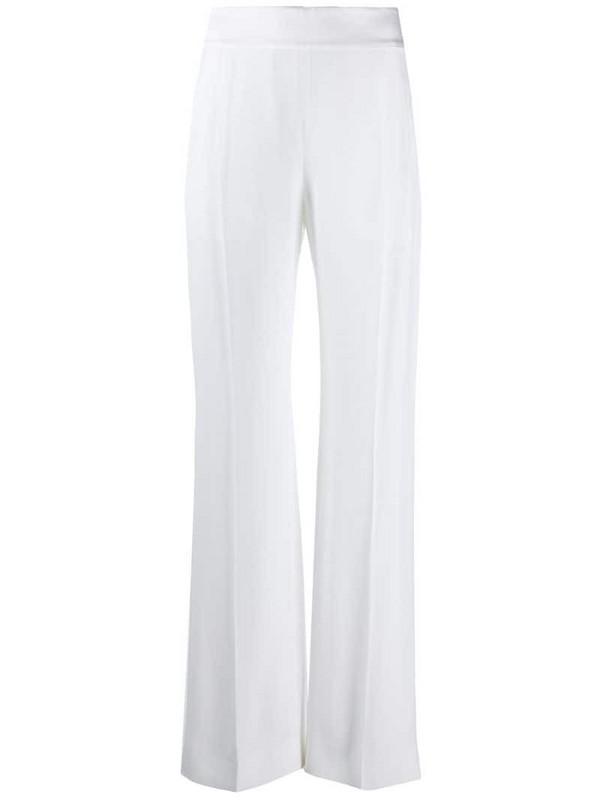 Alberta Ferretti high-rise palazzo trousers in white